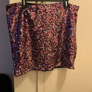 Plus Size Skirt Sequin